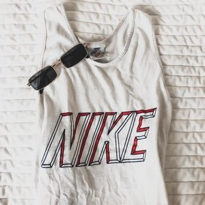 Authentic Vintage Nike Top | White Racerback Tank